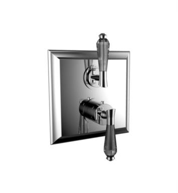 "Santec 7095DC80-TM Edo Crystal 1/2"" Thermostatic Trim with DC Handle and Volume Control - (Uses TH-8000 Valve) With Finish: Standard Pewter <strong>(USUALLY SHIPS IN 4-5 WEEKS)</strong>"