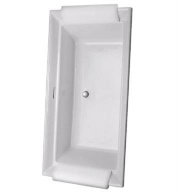 "TOTO ABY626N#12DPN Aimes 71 1/2"" Acrylic Freestanding Soaker Bathtub with Center Drain With Finish: Sedona Beige And Drain and Overflow Finish: Polished Nickel"