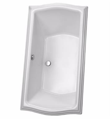 "TOTO ABY784N#01YPN Clayton 71 5/8"" Acrylic Freestanding Soaker Bathtub with Optional Grab Bars With Finish: Cotton And Grab Bar Finish: Polished Nickel"