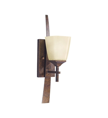 Kichler 6016MBZ Souldern Collection Wall Sconce 1 Light in Marbled Bronze