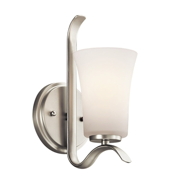 Kichler 45374NI Armida Collection Wall Sconce 1 Light in Brushed Nickel