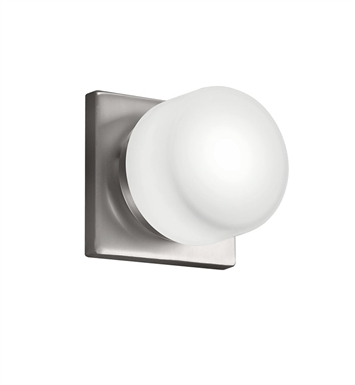 Kichler Wall Sconce 1 Light Fluorescent in Brushed Nickel