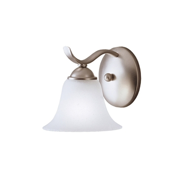 Kichler 6719NI Dover Collection Wall Sconce 1 Light in Brushed Nickel