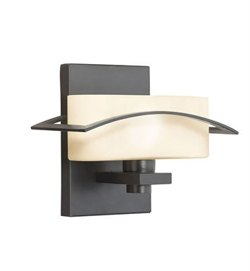 Kichler 45315BK Suspension Collection Wall Sconce 1 Light in Black (Painted)