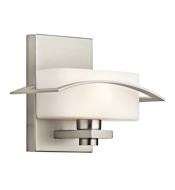 Kichler 45315NI Suspension Collection Wall Sconce 1 Light in Brushed Nickel