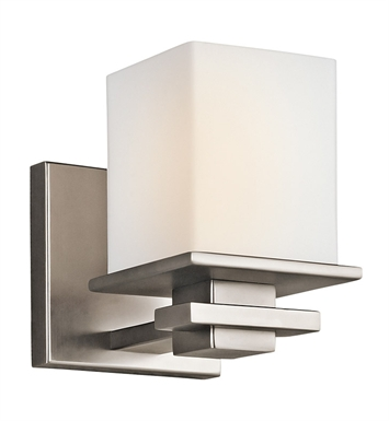 Kichler 45149AP Tully Collection Wall Sconce 1 Light in Antique Pewter