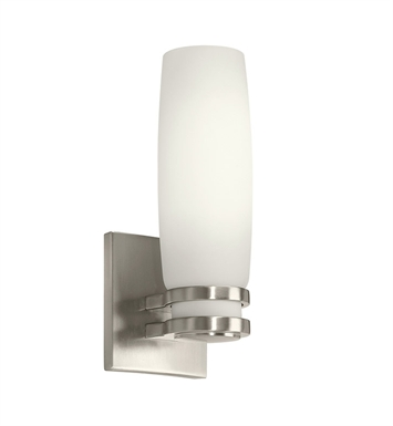 Kichler 10685NI Verve Collection Wall Sconce 1 Light Fluorescent in Brushed Nickel