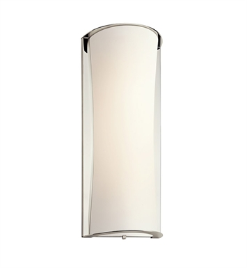 Kichler 10691PN Wall Sconce 1 Light Fluorescent in Polished Nickel