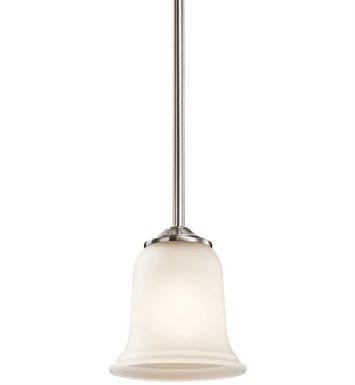 Kichler 43404CLP Wellington Square Collection Mini Pendant 1 Light in Classic Pewter