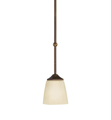 Kichler Souldern Collection Mini Pendant 1 Light in Marbled Bronze