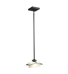 Kichler Suspension Collection Mini Pendant 1 Light Halogen in Black Painted