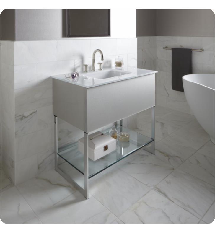 "Robern Bathroom Vanities: Robern VF24PDCNSA7319L Adorn 24 1/4"" Free Standing Modern"