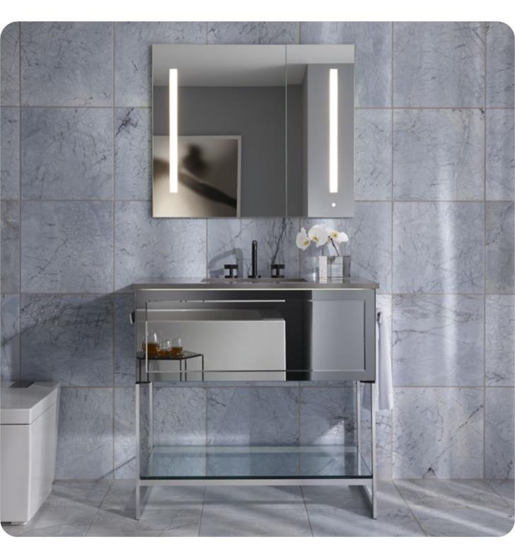 "Robern Bathroom Vanities: Robern VF36PDCLSA7323R Adorn 36 1/4"" Modern Free Standing"
