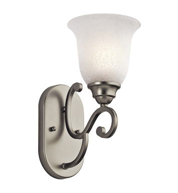 Kichler 45421NI Camerena Collection Wall Sconce 1 Light in Brushed Nickel