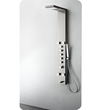 Fresca FSP8006BS Verona Shower Massage Panel with Thermostatic Valve and Stainless Steel Body in Brushed Silver