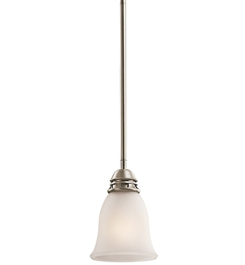 Kichler 42068AP Durham Collection Mini Pendant 1 Light in Antique Pewter
