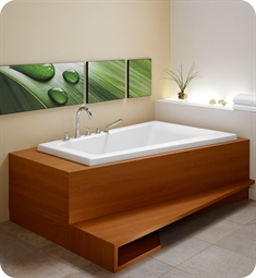 "Neptune 111141.1 Bora BO60D 60"" Customizable Corner Bathtub"