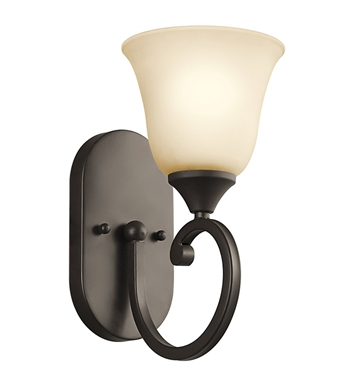 Kichler 45473OZ Feville Collection Wall Sconce 1 Light in Olde Bronze