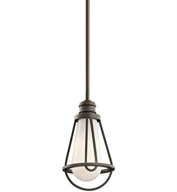 Kichler 42225OZ Saddler Collection Mini Pendant 1 Light in Olde Bronze
