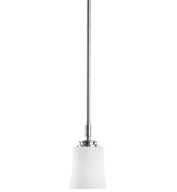 Kichler Wharton Collection Mini Pendant 1 Light in Brushed Nickel