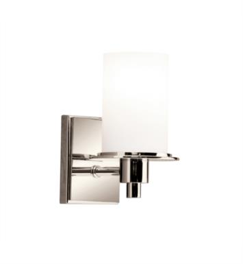 "Kichler 5436PN Cylinders 1 Light 4 3/4"" Incandescent Wall Sconce in Polished Nickel"