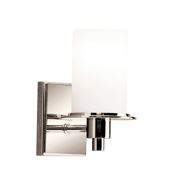 Kichler 5436PN Cylinders Collection Wall Sconce 1 Light in Polished Nickel