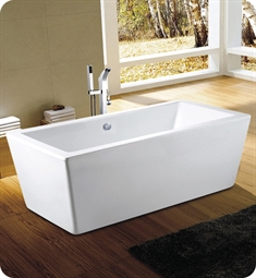 "Neptune Rouge 16.10012.0000.10 Amaze F1 AZ3260 160"" Free Standing Rectangular Bathtub in White"