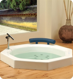 "Neptune 1.13840.00 NA40 Nagano 40"" Customizable Drop-In Octagonal Bathtub"