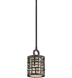 Kichler Loom Collection Mini Pendant 1 Light in Olde Bronze