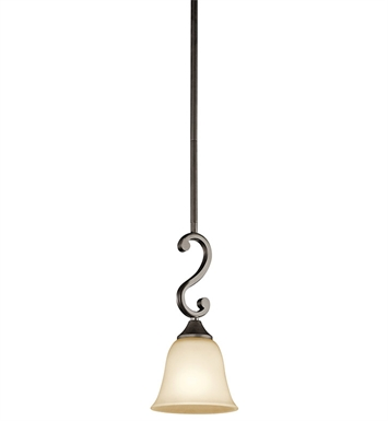 Kichler 43182OZ Feville Collection Mini Pendant 1 Light in Olde Bronze