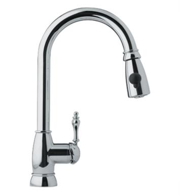 "Franke FHPD180 Farm House 16 3/8"" Single Hole Deck Mounted Pulldown Kitchen Faucet With Finish: Satin Nickel"