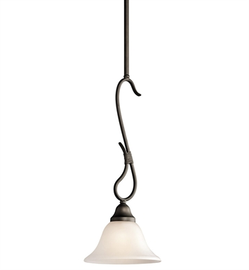 Kichler 3355OZ Stafford Collection Mini Pendant 1 Light in Olde Bronze