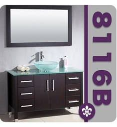 Cambridge Plumbing 48 inch Wood and Porcelain Single Vessel Sink Vanity Set
