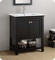 "Fresca FCB2305BL-I Manchester 30"" Black Traditional Bathroom Vanity"