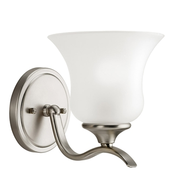 Kichler 5284NI Wedgeport Collection Wall Sconce 1 Light in Brushed Nickel