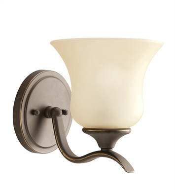 Kichler 5284OZ Wedgeport Collection Wall Sconce 1 Light in Olde Bronze
