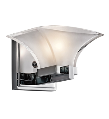 Kichler 45036CH Tulare Collection Wall Sconce 1 Light in Chrome