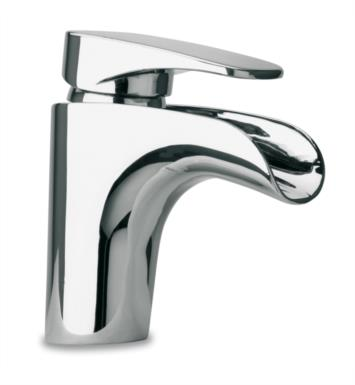 "LaToscana 86PW211WF Novello 6"" Waterfall Single Handle Deck Mounted Bathroom Sink Faucet with Pop-Up Drain With Finish: Brushed Nickel"