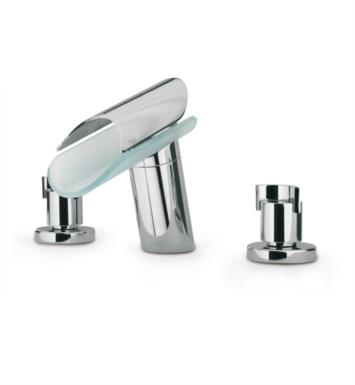 "LaToscana 73CR214VR Morgana 7"" Double Handle Widespread/Deck Mounted Glass Spout Bathroom Sink Faucet with Pop-Up Drain With Finish: Chrome"