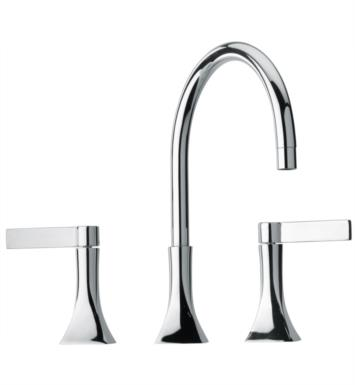 "LaToscana 85PW214 Elix 11 1/8"" Double Handle Widespread/Deck Mounted Rotating Spout Bathroom Sink Faucet with Pop-Up Drain With Finish: Brushed Nickel"