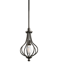 Kichler Kensington Collection Mini Pendant 1 Light in Olde Bronze