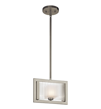 Kichler 43145NI Rigate Collection Mini Pendant 1 Light Halogen in Brushed Nickel