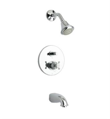 LaToscana 87PW797 Ornellaia Pressure Balance Valve Tub and Shower Faucet Set With Finish: Brushed Nickel