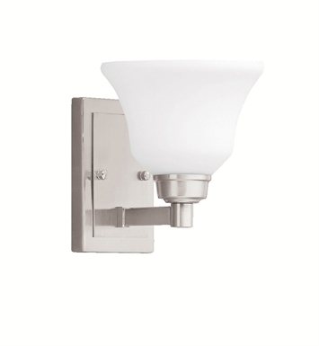Kichler 5388NI Wall Sconce 1 Light in Brushed Nickel
