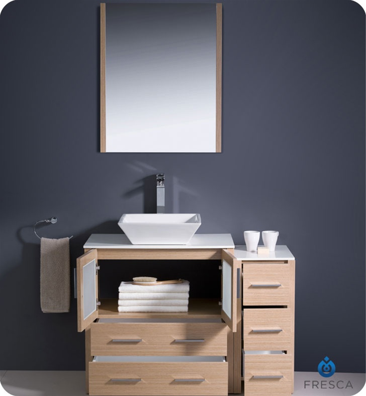 Fresca FVN62 3012LO VSL Torino 42 Modern Bathroom Vanity With Side Cabi