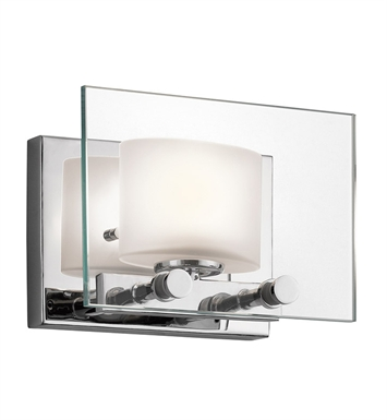 Kichler 45170CH Como Collection Wall Sconce 1 Light Halogen in Chrome
