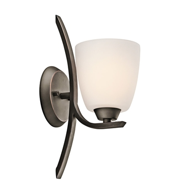Kichler 45358OZ Granby Collection Wall Sconce 1 Light in Olde Bronze