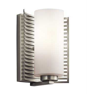 Kichler 45431NI Wall Sconce 1 Light Halogen in Brushed Nickel