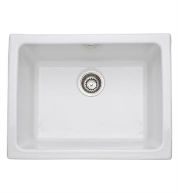"Rohl 6347-68 Allia 24"" Single Bowl Undermount Fireclay Kitchen/Laundry Sink With Finish: Pergame (Biscuit)"