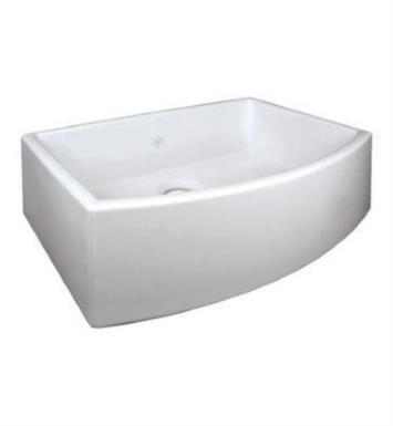 "Rohl RC3021WH Shaws Classic Waterside 29 7/8"" Single Bowl Bowed Apron Front Fireclay Kitchen Sink With Finish: White"
